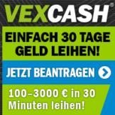 Sofort bis zu 3.000 Euro leihen mit Vexcash